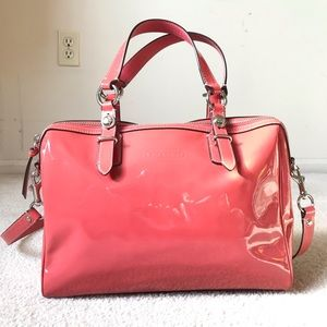 COACH Coral Patent Leather Crossbody/Satchel